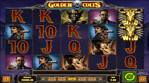 Play Golden Colts online slot at Dealers Casino